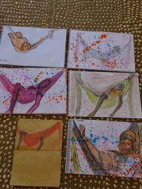 model- en portrettekenen in gambia-tekenatelier gerdie schiphorst