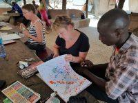 Portret- en modeltekenen in Gambia-tekenatelier gerdie schiphorst