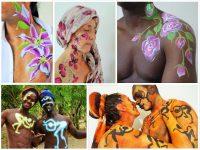 tekenatelier gerdie schiphorst-(flowerpower)bodypaint collage
