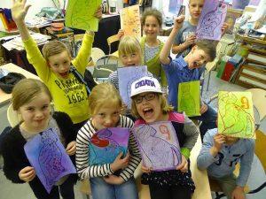 kinderfeestje-tekenatelier gerdie schiphorst